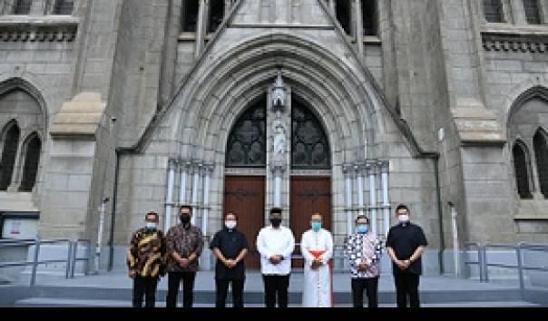 Menag Diskusi Moderasi Beragama dengan Uskup Agung Jakarta