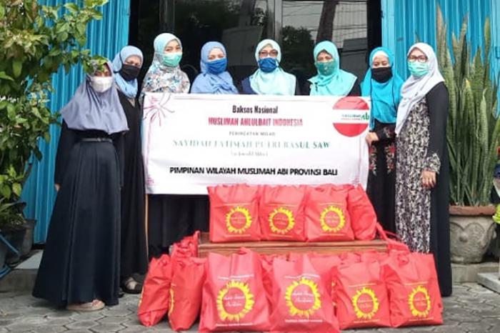 Milad Sayyidah Fatimah Diperingati Muslimah Ahlulbait Indonesia Bali dengan Bagi-bagi 50 Paket Sembako