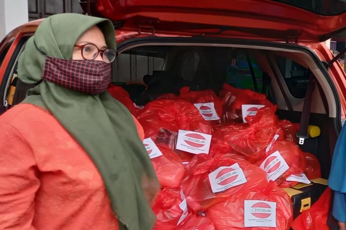 Muslimah Ahlulbait Indonesia Majalengka Kembali Bantu Korban Banjir