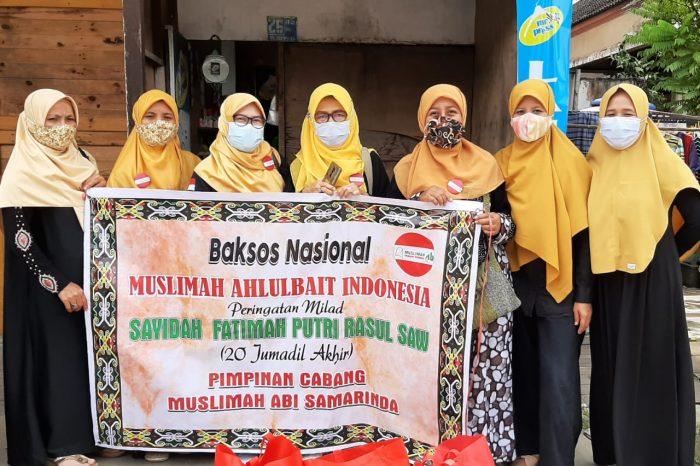 Peringati Hari Lahir Putri Rasulullah saw, Muslimah Ahlulbait Indonesia Samarinda Bagi-bagi Sembako