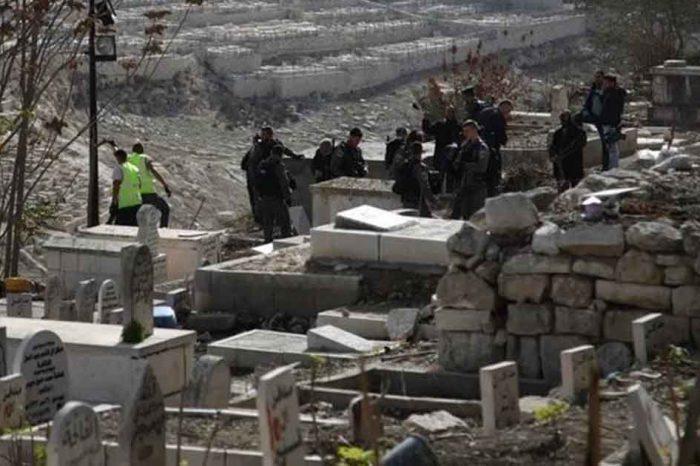 Pasukan Zionis Hancurkan Pemakaman Yusufiyah Masjid al-Aqsa